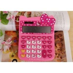 Large Cute Hello Kitty Style Calculator(Rose Pink#2