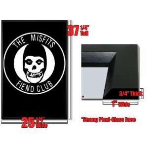 : Framed Misfits Fiend Club Poster Punk Logo FrBB700: Home & Kitchen