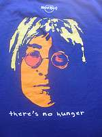 HARD ROCK JOHN LENNON BEATLES BAND SHIRT END HUNGER