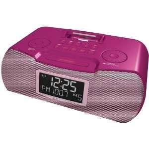 SANGEAN RCR 10 (PINK) AM/FM ATOMIC CLOCK RADIO WITH IPOD