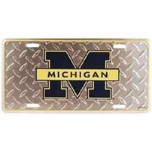 University Of Michigan Car Tag Diamond Plate Case Pack 48