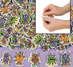 25 Monster Foam Self Adhesive Sticker Shapes Halloween