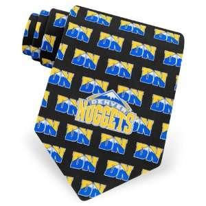Mens Denver Nuggets Logo Silk Tie by NBA in Black