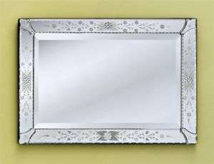 ROSA POLISHED CARVED BEVELED VENETIAN GLASS MIRROR