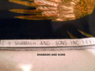 41 x 36 SHAMASH & SONS AMERICAN EAGLES FABRIC HARLEY DAVIDSON 1 YARD
