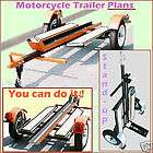 Motorcycle Carrier /Car/Utility /Trailer Plans N/B
