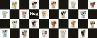 Uncropped Ears Ceramic Mug Coffee Cup Dog Lover Original Art Gifts
