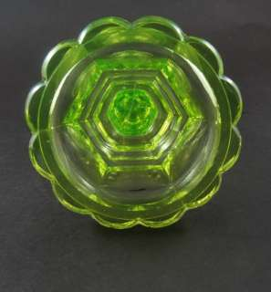 Antique Vaseline Uranium Glass Candle Stick mm4