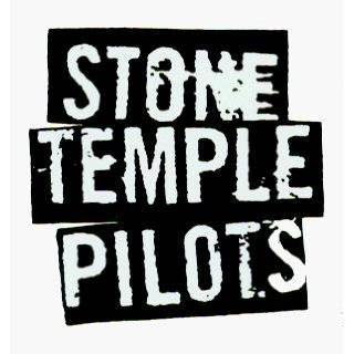 Stone Temple Pilots   Black & White Logo   Sticker / Decal