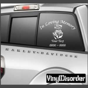 Peace 3 In Loving Memory Custom Car or Wall Vinyl Decal
