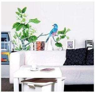 Tree & Bird Wall Art Home Decal Flower Mural Paper Sticker