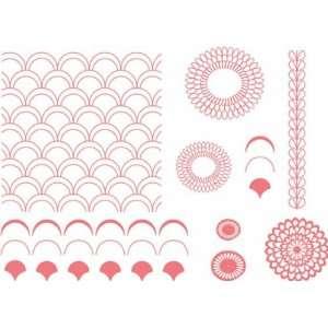 Lifestyle Crafts Letterpress Printing Plates   Petals Printing Plate