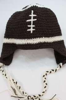 FOOTBALL HANDMADE KNIT CROCHET HAT FOR KIDS BOY GIRL L