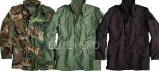 ALPHA KNOX ARMORY M 65 LINED FIELD JACKET COAT ARMY DRB BLK WDLAND