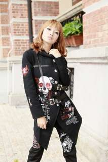 nf Visual Kei Punk rave Goth skull hoodies Coat Jacket