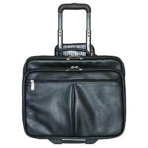 Jourdan Leather Notebook Computer Case On Wheels Office