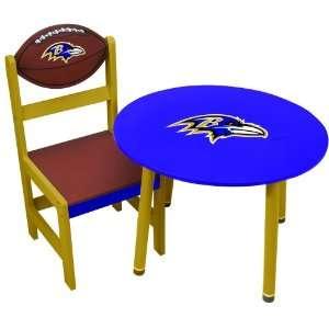 Baltimore Ravens Wooden Team Table
