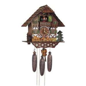 Cuckoo Clock Black Forest house with moving bambis Home & Kitchen
