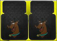 2PC SCOOBY TRIBAL STYLE FRONT RUBBER CAR SUV TRUCK FLOOR MATS