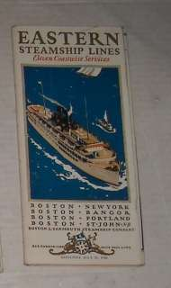 ANTIQUE July 25, 1928 EASTERN STEAMSHIP LINES CRUISE SCHEDULE TRAVEL