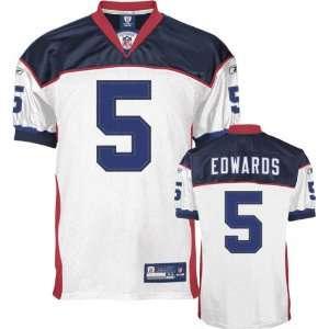 Trent Edwards Jersey Reebok Authentic White #5 Buffalo Bills Jersey