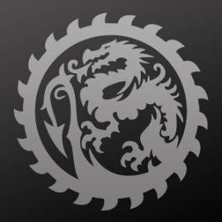 Tribal tattoo design Decal Sticker Dragon Art WRS32