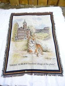 Auburn University Tiger Throw Blanket (100% Cotton)
