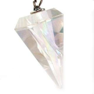 FACETED Crystal PENDULUM ~ Healing Stone ~ OPAL AURA