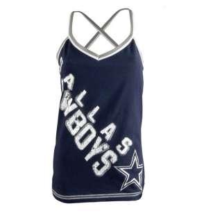 Dallas Cowboys Womens Navy Cheer Tank Top