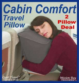 CABIN COMFORT TRAVEL PILLOW 2 PILLOW DEAL FOR IN FLIGHT SKYREST/WORLD