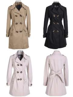 Trendy Double breasted Trench Autumn Winter Coat Jacket Outwear