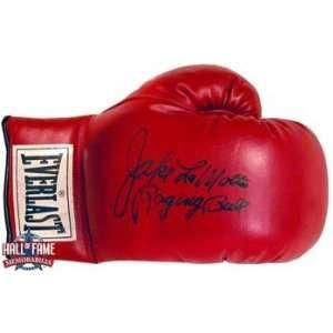 Jake Lamotta Signed Everlast Boxing Glove With Raging Bull