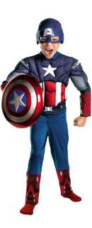 THE AVENGERS MOVIE CAPTAIN AMERICA CLASSIC MUSCLE CHEST TODDLER CHILD