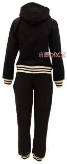 NEW WOMENS LADIES FULL HOODIE TRACKSUIT BASEBALL JACKET JOGGER PANTS