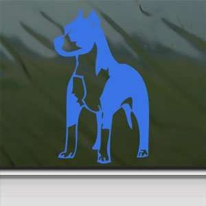 Pitbull Standing Bull Terrier Dog Blue Decal Car Blue