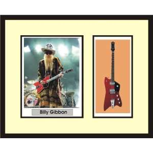 BILLY GIBBONS Guitar Shadowbox Frame ZZ TOP Musical Instruments