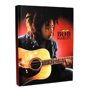 Bob Marley Photo Guitar Reggae Music Hard Cover Diary