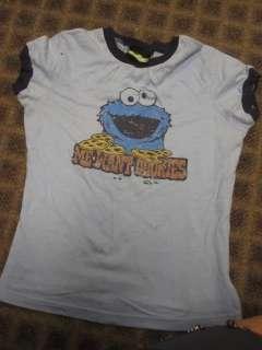 Retro ringer t shirt sesame street Cookie Monster baby fit