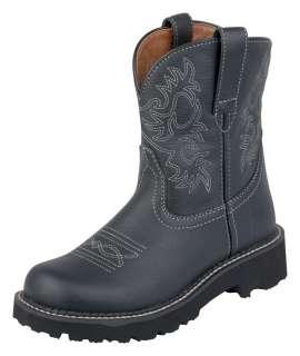 Fatbaby Boots Womens Western Black Deertan Fat Baby 10000833