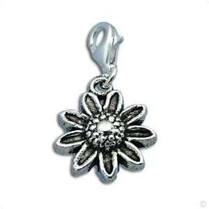Beggar Charms pendant   silver Daisy dangle #8433, bracelet Charm
