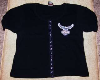 BRAND NEW HARLEY DAVIDSON GIRL SNAP DOWN TOP 100% AUTHENTIC M