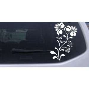 Swirl Leaf Flowers And Vines Car Window Wall Laptop Decal Sticker