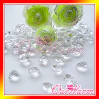 200 Diamond Confetti 2CT Wedding Party Decor Colors Hot