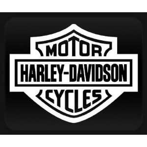 Harley Davidson White Sticker Decal Automotive