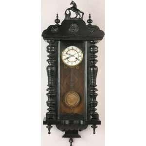 Antique German Wall Clock Regulator Regulateur Horse