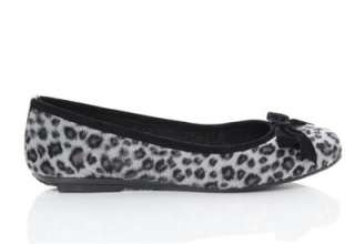 BN Casual Ladies Ballet Flats Ballerinas Shoes Leopard Print Brown