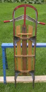 VINTAGE Wooden Snow Toboggan FLYER Sled BEAUTIFUL WOW