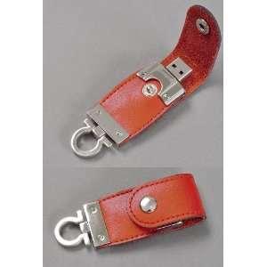 Brown Leather Key FOB USB Flash Memory Drive 16 GB Electronics