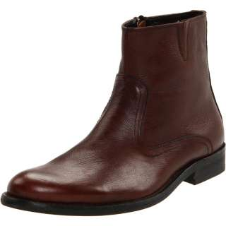 Kenneth Cole Mens Nobel Men Brown Leather Zipper Ankle Dress Casual