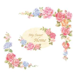 My Sweet Home Flower Door Wall STICKER Removable Decal